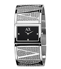 A|X Armani Exchange Women's Silver Glitz Cuff Watch