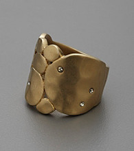 Kenneth Cole® Hammered Goldtone Ring