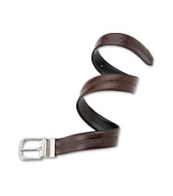 Statements Boys' Black to Medium Brown Reversible Belt