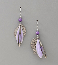 Silver Forest® Silvertone & Purple Layered Earrings