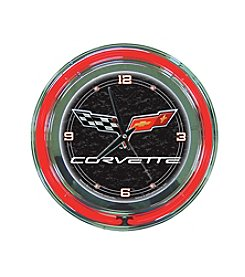 Trademark Officially Licensed Corvette® C6 Black Neon Clock