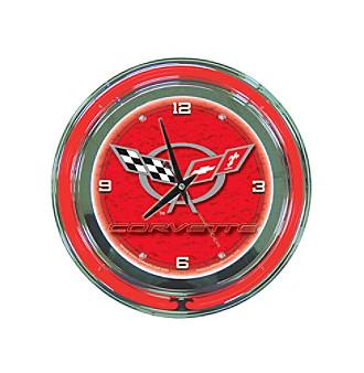 Trademark Officially Licensed Corvette® C5 Red Neon Clock