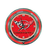 Officially Licensed Corvette C5 Red Neon Clock