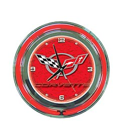 Trademark Officially Licensed Corvette® C5 Red Neon Clock