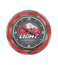 Officially Licensed Coors Light Gray Neon Clock