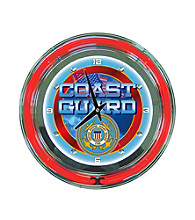 Officially Licensed United States Coast Guard Blue Neon Clock