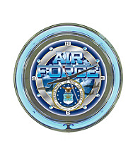 United States Air Force Gray Neon Clock