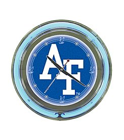 United States Air Force Blue Neon Clock