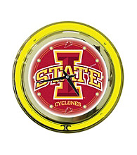 Officially Licensed Iowa State Red Neon Clock