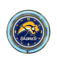 Officially Licensed Buffalo Sabers Blue Neon Clock