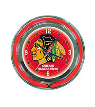 Officially Licensed Chicago Blackhawks Red Neon Clock