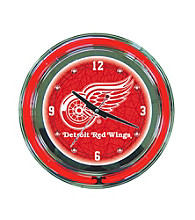 Officially Licensed Detroit Red Wings Red Neon Clock