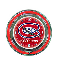Officially Licensed Montreal Canadiens Red Neon Clock