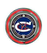Officially Licensed Vintage Montreal Canadiens Blue Neon Clock