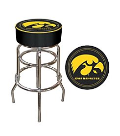 NCAA® University of Iowa Padded Bar Stool