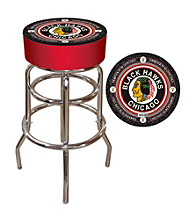 Throwback Chicago Blackhawks Padded Bar Stool