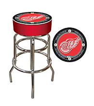 Throwback Detroit Red Wings Padded Bar Stool