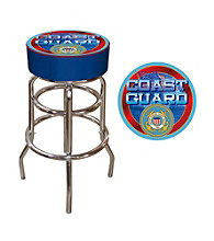 US Coast Guard Padded Bar Stool