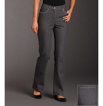 Jones New York Sport® Embellished Bootcut Stretch Denim Jeans - Gray Wash
