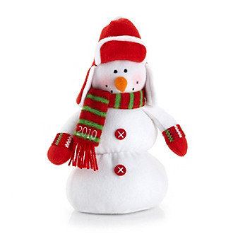 LivingQuarters Boys & Girls Club Snowman with Earflap Hat