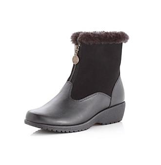 "Khombu® ""Maple Zip"" Cold Weather Boot - Black"