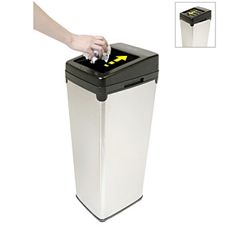 iTouchless® SX 14-gal. Black Touchless Trashcan®