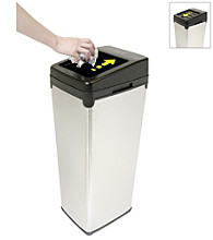 iTouchless® SX 14-gal. White Touchless Trashcan®