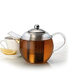 BonJour® 34-oz. Round Teapot with Shut-Off Infuser