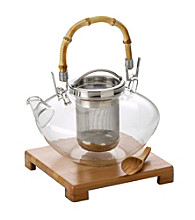 Bon Jour® Zen 42-oz. Glass Teapot Set - Clear