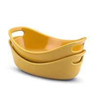 Rachael Ray® Yellow Stoneware 2-pc. 12-oz. Bubble & Brown™ Individuals Set