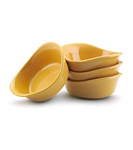 Rachael Ray® Yellow Stoneware 4-pc. 3-oz. Lil' Saucy™ Dipping Cup Set