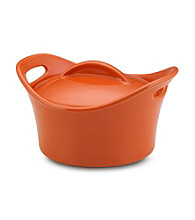 Rachael Ray® Orange Stoneware 18-oz. Souped Up™ Covered Bowl