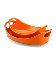 Rachael Ray® Orange Stoneware 2-pc. Bubble & Brown™ Set