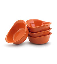 Rachael Ray® Orange Stoneware 4-pc. 3-oz. Lil' Saucy™ Dipping Cup Set