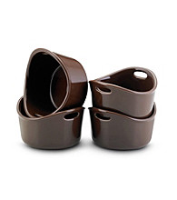 Rachael Ray® Chocolate Stoneware 4-pc. 10-oz. Bubble & Brown™ Singles Set