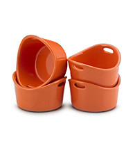 Rachael Ray® Orange Stoneware 4-pc. 10-oz. Bubble & Brown™ Singles Set