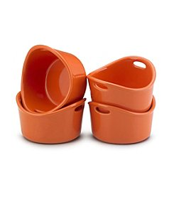 Rachael Ray® Stoneware 4-pc. Orange Bubble and Brown™ Singles Set