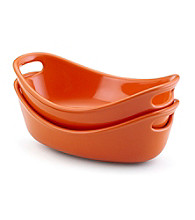 Rachael Ray® Orange Stoneware 2-pc. 12-oz. Bubble & Brown™ Individuals Set