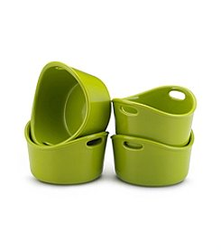 Rachael Ray® Stoneware 4-pc. Green Bubble and Brown™ Singles Set