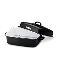 KitchenAid® Gourmet Essentials Black Covered Dome Roaster with Flat Rack