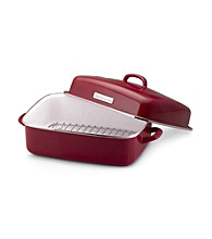KitchenAid® Gourmet Essentials Red Covered Dome Roaster with Flat Rack