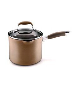Anolon® Advanced 3.5-qt. Bronze Hard-Anodized Nonstick Collection Straining Saucepan