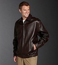 Chaps® Men's Leather Bomber Jacket