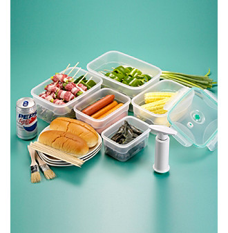 Technosonic Rectangular Vacuum-Sealed 5-pc. Food Storage Container Set