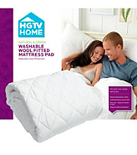 Natura World Washable Wool-Fitted Mattress Pad