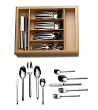 Mikasa® Zena 65-pc. Flatware Set with Caddy