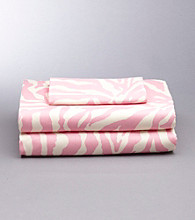 Scentsations Pink Zebra Stripe 300-Thread Count Sheet Sets