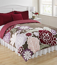 Flower Power Kids' Micro Plush Mini Comforter Set by Cozy.Fresh.Fun