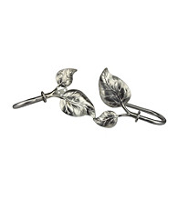 Rod Desyne Decorative Holdbacks with Ivy Finials - Satin Nickel