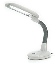 Sunpentown® EasyEye 2-tube Energy Saving Desk Lamp with Ionizer - Gray